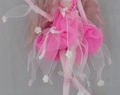 BALLERINA SNOW, hand sculpted paper clay jointed puppet doll, made in the USA
