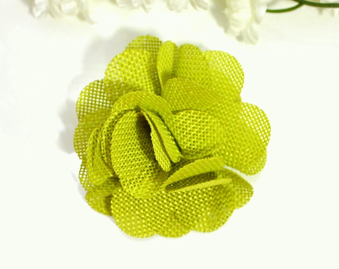 Burlap Hair Clip Light Green Barrette Small Hair Clip Flower Hair Pin Burlap Hair Accessory