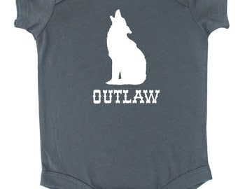 "Howling Coyote ""Outlaw"" Baby Bodysuit"