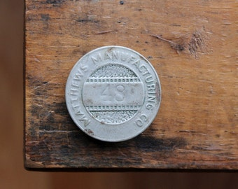 Matthews Manufacturing Company Employee Badge, Industrial Salvage Pin