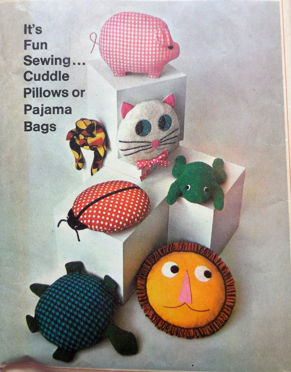 Cute Animal Shaped Pillows : Simplicity 7367 Cute Animal Pillows & Toys Stuffed