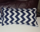 Neck Pillow Clearance - Minky backed Chevron print, or small nursery/ doll pillow, accent pillow