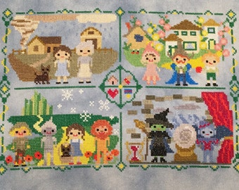 Road to the Emerald City Cross Stitch Pattern: Wizard of Oz Inspired Parody/Fan Art-PDF Instant Download