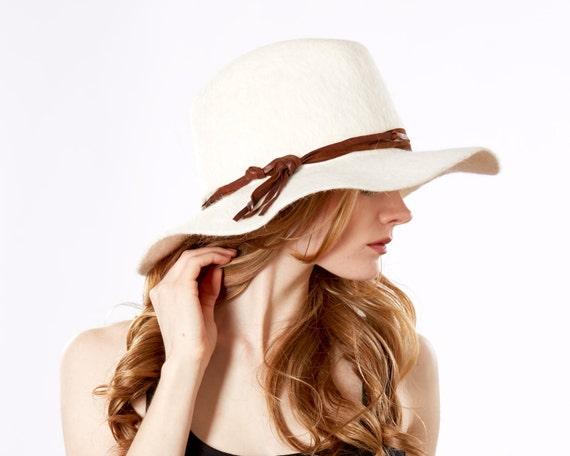 Cowboy Hat Western Style Wide Brim Rancher's Boho Spring Fashion White Cowboy Hat Urban Cowboy Spring Accessories Festival Fashion