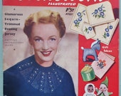 Knitting Sewing Embroidery Crochet Magazine Vintage 1950s - Needlework Illustrated No. 221 1953 UK knitting pattern for bed wrap - soft toys