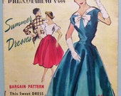 Weldons Home Dressmaking No 699 Summer Dresses Vintage 50s dressmaking sewing pattern catalog magazine New Look fashion