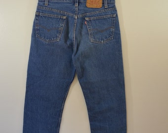 Vintage LEVI'S 501 xx w31 l30 Made In USA red tab 80's denim blue jeans