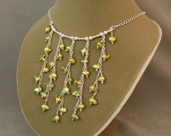 Weeping Willow Necklace & Earrings Set