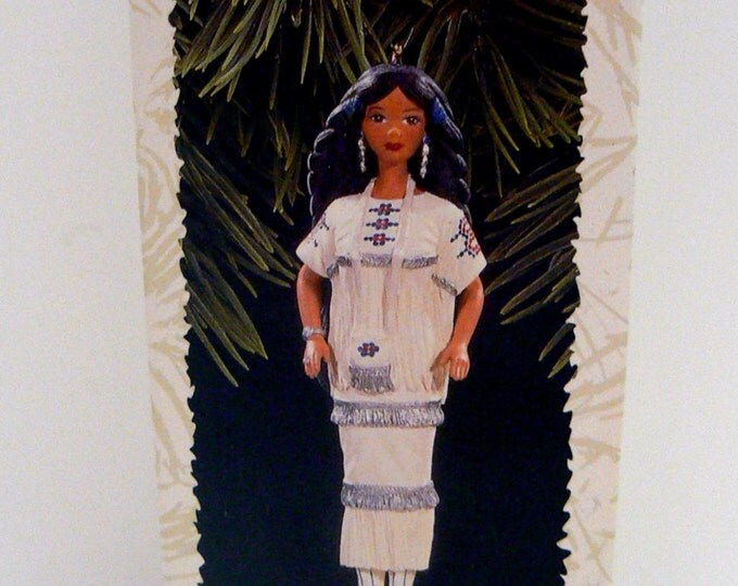 Hallmark Barbie Native American Dolls of the World Chirstmas Ornament Patricia Andrews