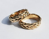 Extra Wide-Thick 10K Solid Gold Braid Ring