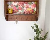 Rustic Natural Wood Wall Shelf