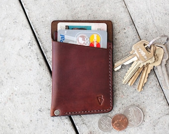 """Father's Day Gift // Leather Wallet  // """"slim"""" by fullgive in english tan"""