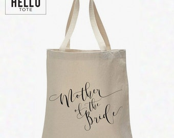 Mother of the Bride Tote Bag | Order 1 or More for Gift, Welcome Bag, Wedding Favor
