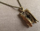 Necklace with Brass Lover Insects Pendant