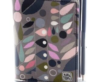 A6 Journal - Smokey pink geometric leaf fabric