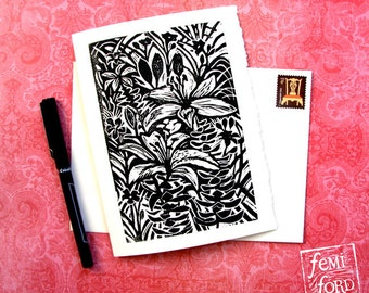 Tropical Lily Art Print and Envelope