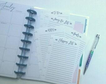 Happy Planner Inserts, Happy Planner To Do List, Happy Planner Shopping List,  Happy Planner Notes, Planner Honey Do List (20)