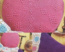 PDF Crochet Pattern / Crochet Cushion Covers / Round and Square Cushions / Two Cushions in one pattern / PDF instant download Post FREE