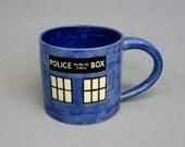 Police Box Mug: 16 oz Tardis Cup