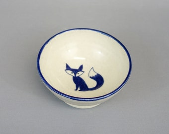 Fox Bowl - ceramic ice cream bowl with original illustration