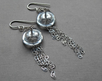 so jelly - earrings, vintage lucite and sterling