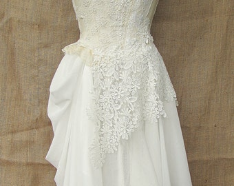 Ivory halterneck dress