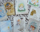 Angels Celebrate a Heavenly Christmas in Vintage Christmas Card Lot No 635 Total of 8 cards Winsome Sweet and Adorable