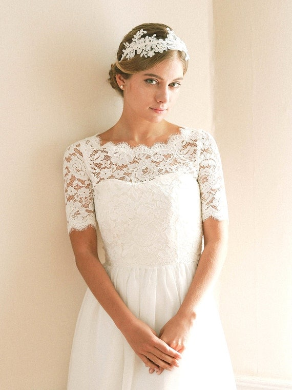 Items similar to bridal reception top bridal cover up for Wedding dress with shrug