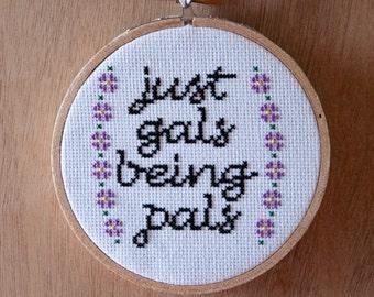 Gal Pals - 4 inch cross stitch