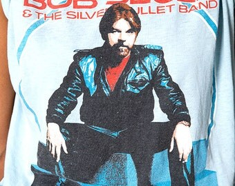 The Vintage 1986 Bob Seger and the Silver Bullet Band Super Soft 50/50 Concert TShirt