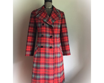 Vintage 1960s Young Pendleton Plaid Coat
