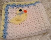 Doll Blankets/Crochet/Ducks/Crocheted Doll blankets/Doll clothes/14 inch dolls/15 inch dolls