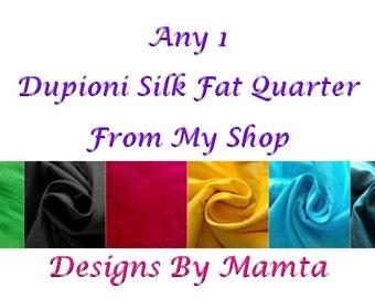 Fat Quarter Dupioni Silk Fabric, Indian Silk Fabric, Art Silk Fabric, Bridesmaid Gown Fabric, Colorful India Fabric, Fat Quarter Silk Fabric