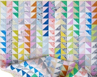 Modern Half Square Triangle Quilt