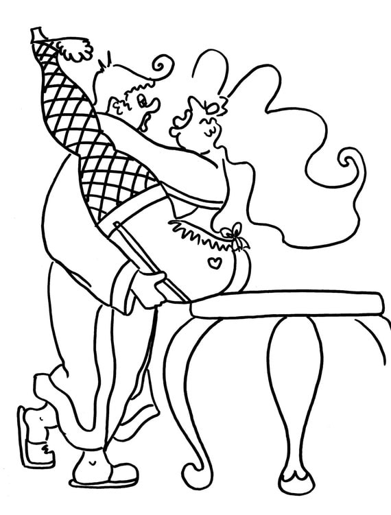 The Erotic V Funny Sexy Coloring Pages for Adults from the