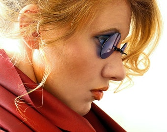 Blue Sunglasses , Steampunk Glasses , Mens Sunglasses , Round Sunglasses , Blue Glasses , Steampunk Costume , Gothic eyewear , Sunglasses