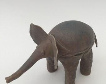 SALE- Bespoke handmade ceramic animal, elephant,