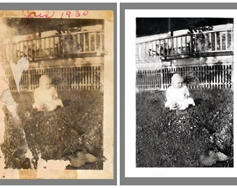 Photo Restoration: Heavily Damaged Photos