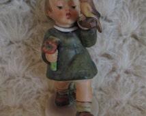 "Hummel Goebel ""Gay Adventure "" 4-3/4"" Tall Porcelain Figurine  W. Germany #356   Collectible  Hummel Goebel Figurine Marked 1971"