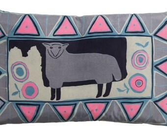 SALE*** Pastoral Sheep Silk Cushion