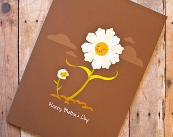 Happy Mother's Day Smiling Flowers Card