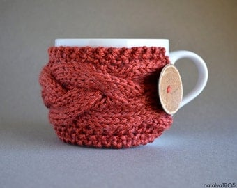 Mom Gifts, Coffee Mug Cozy, Coffee Cozy, Coffee Sleeve, Coffee Gifts, Tea Cozy, Coffee Cup Cozy, Mug Sweater Coffee Decor Cinnamon Tea Gifts