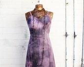 Med/Large Tie Dye dress/Ecru Rustic Wedding/Music festival/Tie Dye Sundress/Lavender creme Tie Dye/Sweet Shabby Chic Dress//Free People