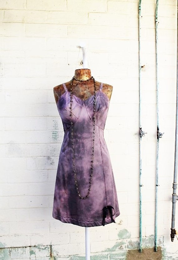 Med/Large Tie Dye dress/Ecru Rustic Wedding/Music festival/Tie Dye Sundress/Lavender creme Tie Dye/Sweet Shabby Chic Dress//Free People