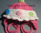 Polka Dot Infant Tie Hat Crochet Pattern pdf 401