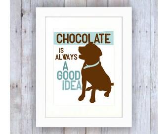 Chocolate Lab Art, Chocolate Lab Print, Funny Dog Art, Lab Silhouette, Dog Silhouette Print, Lab Dog, Labrador Gifts, Chocolate Art