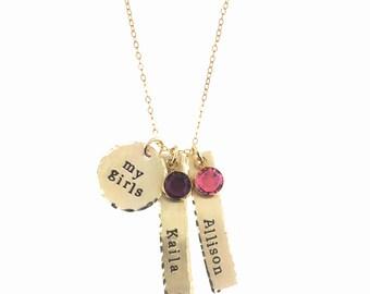 14k GoldFilled My Girls Necklace