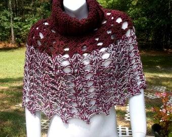 Hand Crochet Shoulder Wrap, Neckwarmer, crochet shawl, Crochet Poncho,