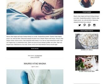 Blog Design WordPress Blog Theme - Blog Design - WordPress Template - Genesis Child Theme With Installation - Peyton
