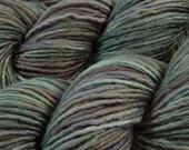 Hand Dyed Yarn - DK Weight Superwash Merino Wool Singles Yarn - Storm Clouds - Knitting Yarn, Wool Yarn, Single Ply Yarn, Blue Grey Gray